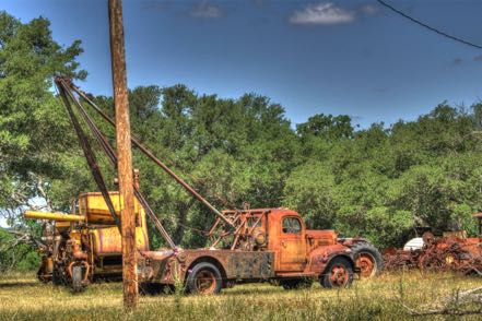 Old Well-Digging Truck